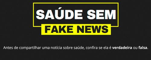 Ministério da Saúde lança campanha de combate às fake news