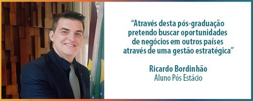 Em busca de aprimoramento, o farmacêutico Ricardo Bordinhão decidiu cursar pós em Comércio Exterior
